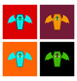 assembly flat icons wings coffin vector image vector image