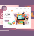 atm website landing page design template vector image