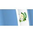 Background with waving Guatemala Flag vector image vector image