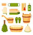 bath and sauna accessories flat vector image