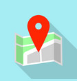 big red pin map icon flat style vector image
