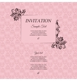 Border with classic floral decorative pattern vector image vector image
