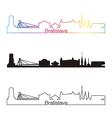bratislava skyline linear style with rainbow vector image vector image