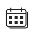 calendar icon date sign vector image vector image