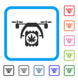 cannabis drone delivery framed icon vector image vector image