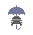 car insurance sign icon protection symbol car vector image vector image