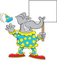 Cartoon Clown Elephant vector image