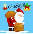 christmas santa claus in red suit with bag full vector image