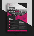 corporate flyer template vector image vector image