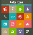 courses school icons set vector image