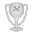 Cup for first place icon black monochrome style
