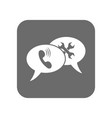 customer service icon with speech bubble vector image