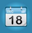 december blue calendar vector image