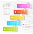 Design business infographics five successive vector image vector image