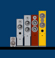devices for quality sound high-end sound speakers vector image