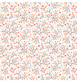 Doodle floral pattern vector image vector image