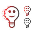 dust dot halftone smile bulb icon vector image vector image