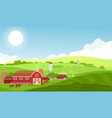 farm with large fields vector image vector image