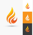 flame icon in a shape droplet vector image