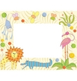 frame with animals vector image