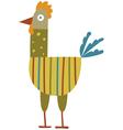 Funny hen vector image vector image