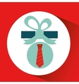 gift father day with red tie vector image