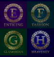 golden templates for enticing fashion glamorous vector image