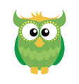 green cartoon owl vector image vector image