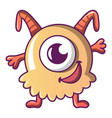 happy monster icon cartoon style vector image vector image