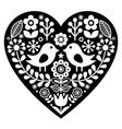 Heart with love birds