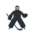 hockey goalkeeper flat icon vector image
