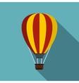 Hot air ballon icon flat style vector image vector image