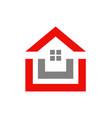 house shape realty logo vector image vector image