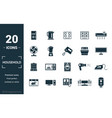 household icon set include creative elements home vector image vector image