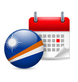 Icon of national day on marshall islands vector image vector image