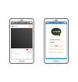 kakaotalk messenger interface with start page vector image vector image