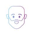 line avatar man head bald with beard