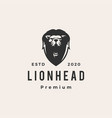 lion head hipster vintage logo icon vector image vector image