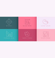 logo designs concept set in minimal style vector image
