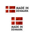 made in denmark label tag template vector image vector image