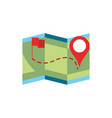 map location flag pointer gps navigation vector image