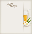 menu with juice vector image vector image