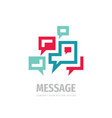 message speech bubbles communication logo design vector image vector image