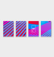 minimal cover collection design colorful pink vector image vector image
