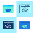 online shopping icon set in flat and line style vector image