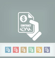 payment contract vector image