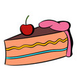 piece of cake icon cartoon vector image vector image