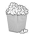 pop corn icon black and white vector image