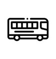 public transport inter-city bus sign icon vector image vector image