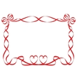 red ribbon frame isolated on white vector image